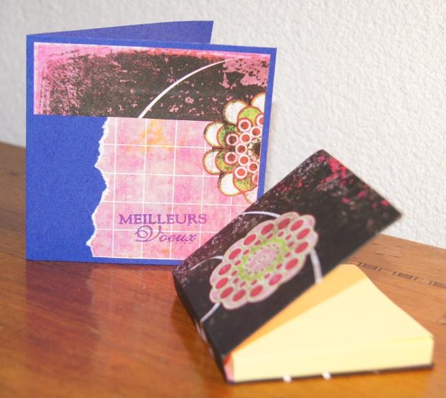 carnet carte de voeux post-it