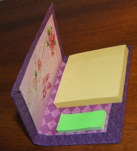 carnet post it violet