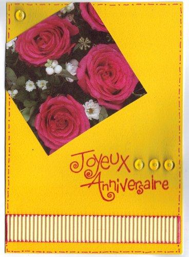 carte anniversaire jaune
