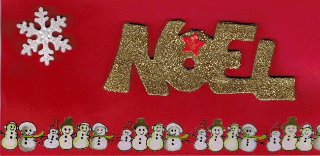 Carte-enveloppe Noël