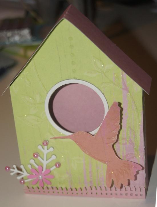 Mangeoire scrap collimage carton déco