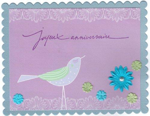 Carte anniversaire Mathilde Elaia design