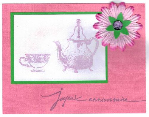 carte anniversaire heure thé