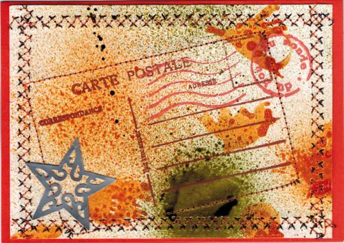 Carte d'été Mail Art