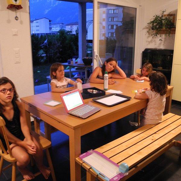 Atelier marbrage en famille