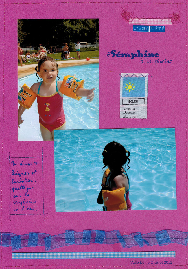 Séraphine à la piscine collimage