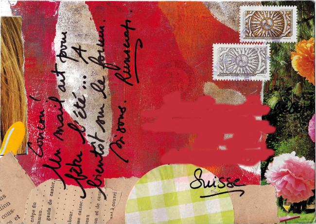 Runscrap Mail Art postal été 2013
