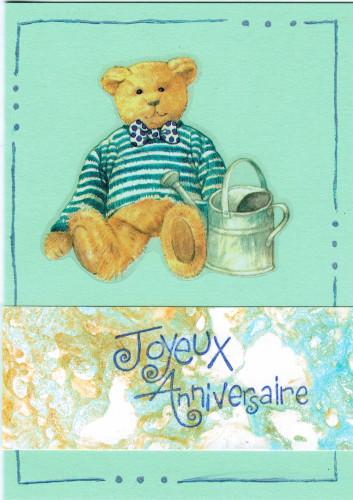 Carte anniversaire Alexis 4 ans