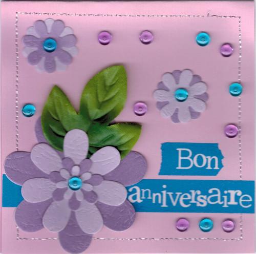 Carte anniversaire croquis Féebellescrap