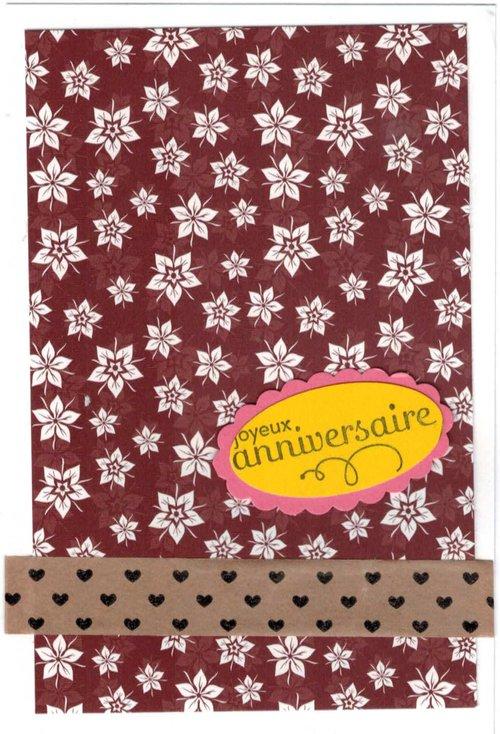 Carte anniversaire Delmary
