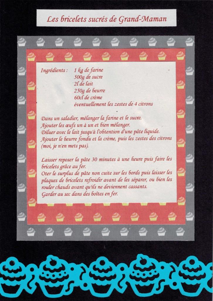 Défi Com.16 3 recette bricelets Bourgeon créatif