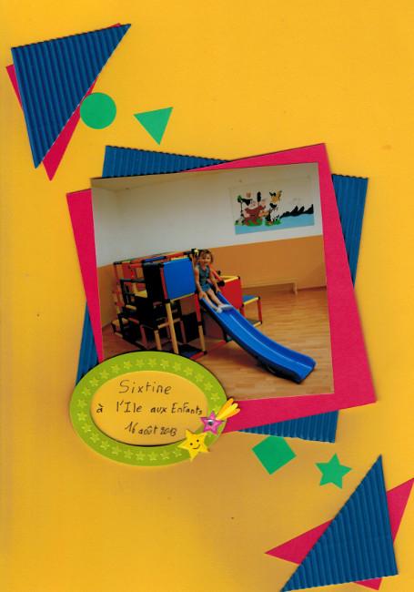 Sixtine à l'Ile aux enfants - Bourgeon créatif