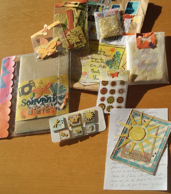 Bourgeon créatif Mail art postal fafa contenu