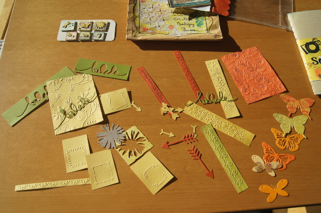 Bourgeon créatif Mail art postal fafa embellissements