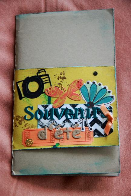 Bourgeon créatif Mail art postal fafa minialbum1