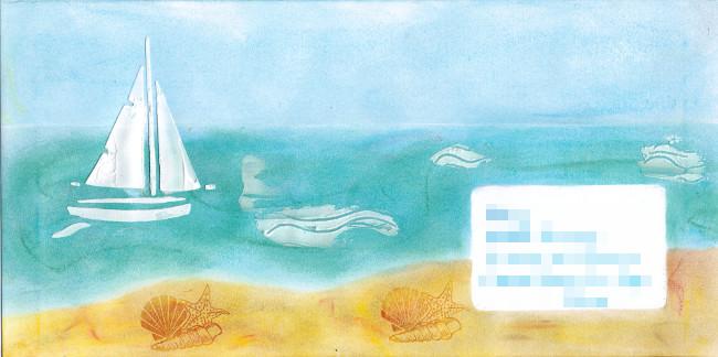 Enveloppe Mail art art postal_Bourgeon créatif