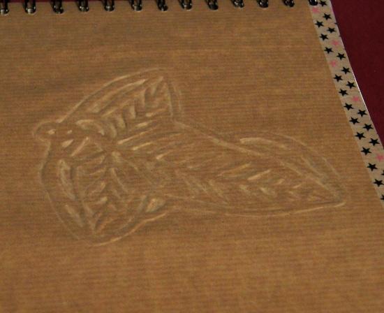 Bourgeon créatif Carnets à dessins personnalisés Seigneur des Anneaux détail feuille de lorien