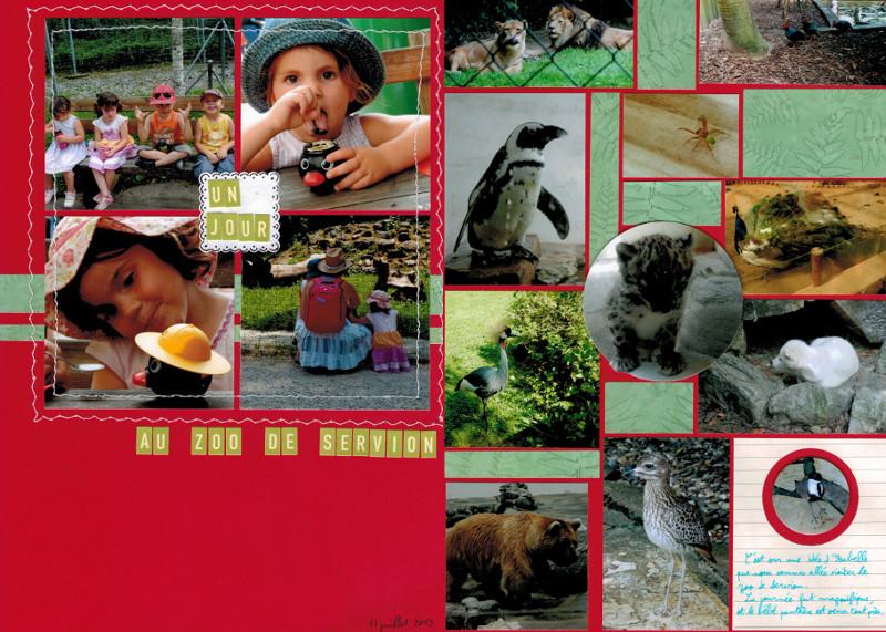 Bourgeon créatif Un jour au zoo collimage double page