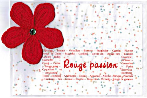 Bourgeon créatif carte rouge potager créatif