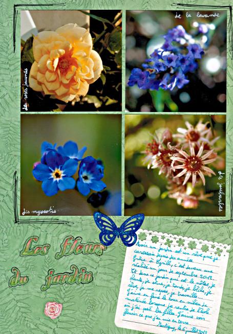 Bourgeon créatif défi mensuel octobre 2014 Les fleurs du jardin