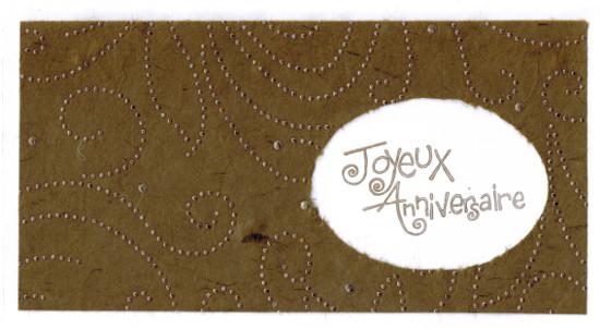 Bourgeon créatif carte anniversaire