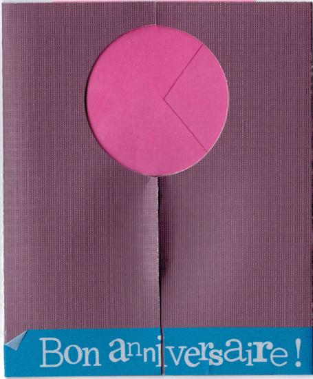 Bourgeon créatif carte mécanique violette fermée