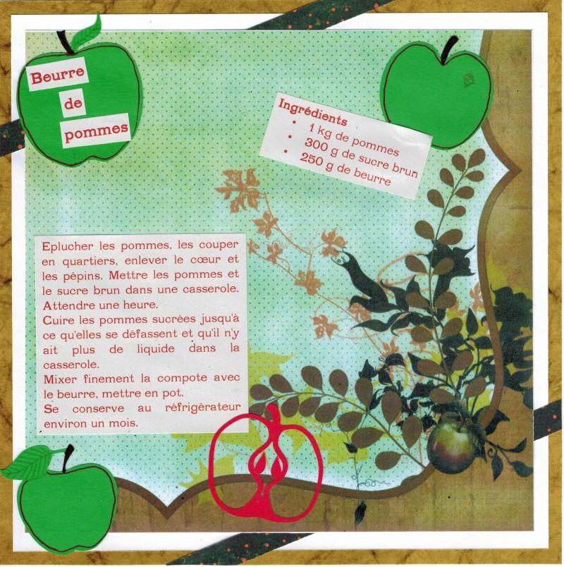 Bourgeon créatif Recette Beurre de pommes