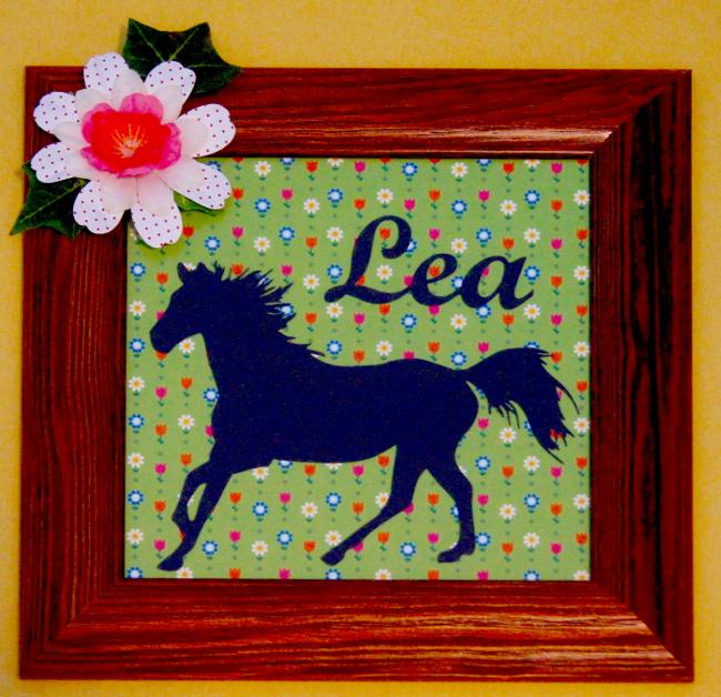 Bourgeon créatif cadre enfant cheval