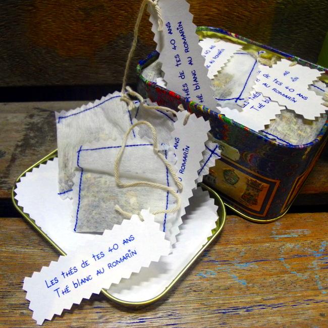 Bourgeon créatif sachets de thés faits maison