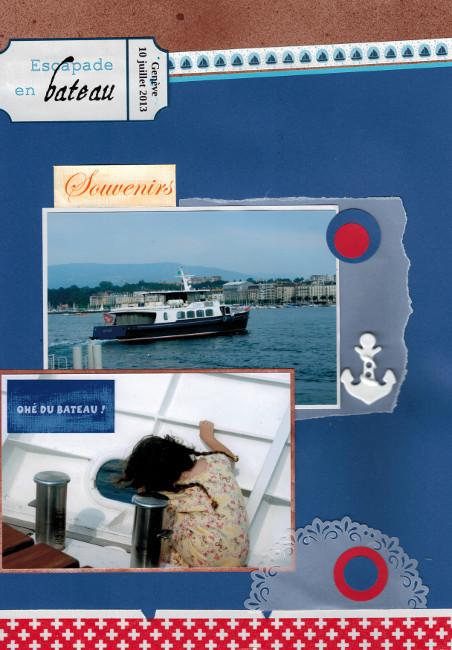Bourgeon créatif Escapade en bateau copitage secret Coffee Scrap collimage