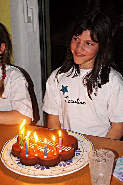 Bourgeon créatif série de t-shirts pour anniversaire