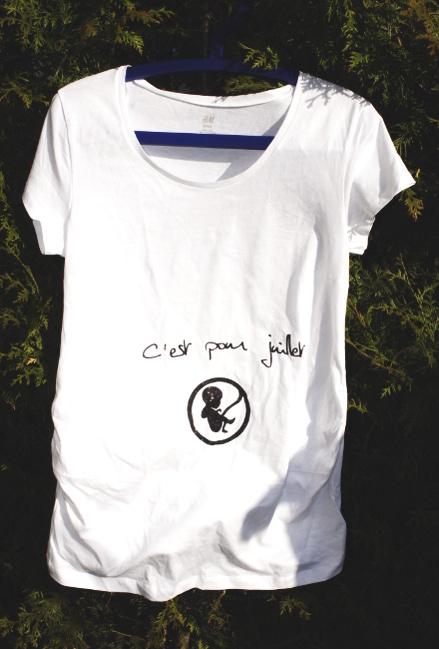 Bourgeon créatif t-shirt pour grossesse2