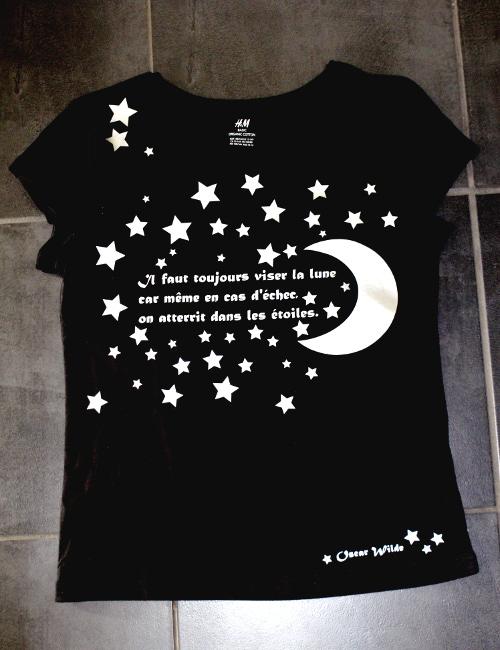 Bourgeon créatif Gaminet citation Oscar Wilde lune étoiles