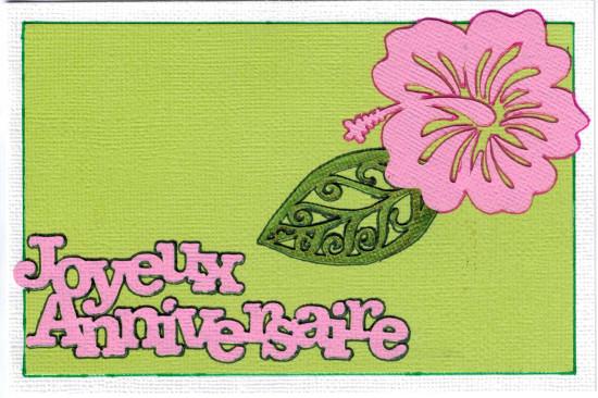 Bourgeon créatif combo mai 2015 CoffeeScrap carte Joyeux anniversaire