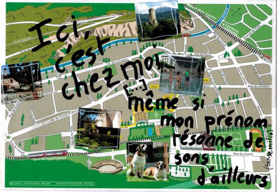 Bourgeon créatif_art postal_Ici chez moi recto